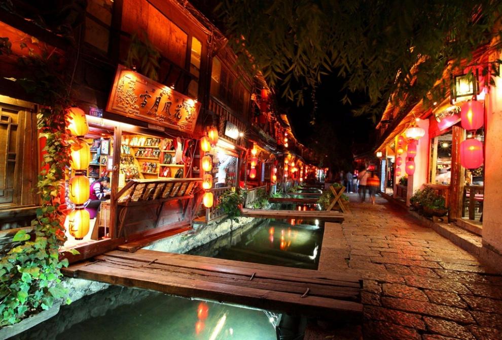 丽江古城夜景1